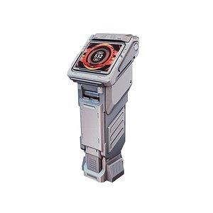 sci-fi console monitor 3D model