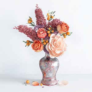 3D model Spring Summer Bright Bouquet