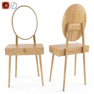 3D Penn dressing table