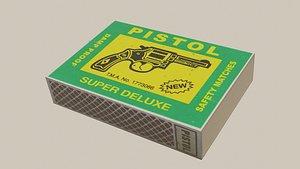 Indian matchbox pistol 3D model