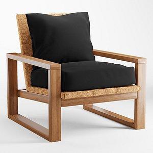 3D Ventura Woven Accent Chair