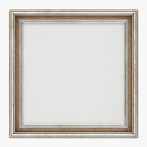 Frame with picture square 04 3D model