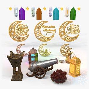 3D model Ramadan items