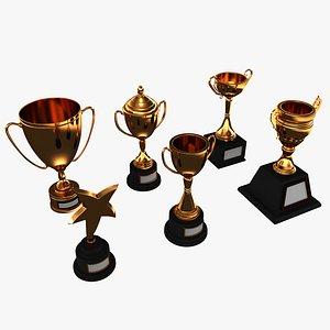 3D trophy cups
