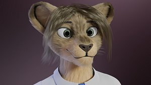 3D Nicolle Waterson anthro lioness