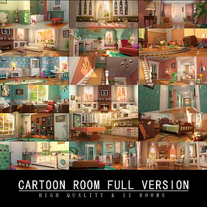 cartoon room toon 3D model