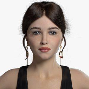 3D Emilia Clarke model