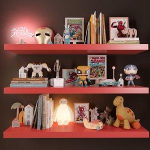 3D set children s rooms model