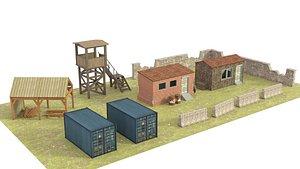 military base 3D model