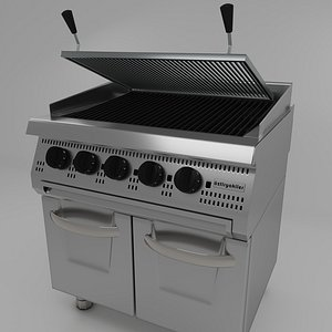 3D design modeled commercial kitchen model