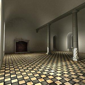 hall floor 3D model