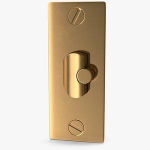lock golden deadlatch 3D model