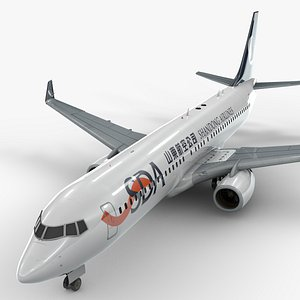 boeing 737-8 shandong airlines model