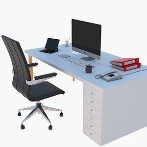 3D desk workstation work