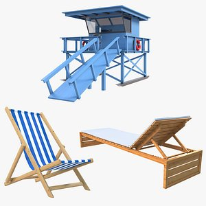 Large Beach Collection model