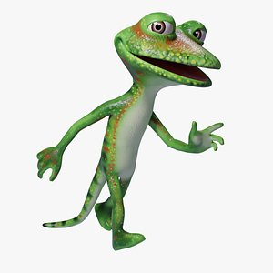 3D model Toon Humanoid Lizard