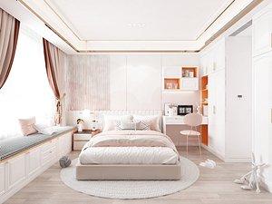 Modern Style Bedroom - 510 3D model