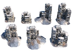3D destroyed buildings model