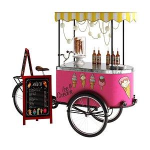 Ice cream bicycle 2 3D