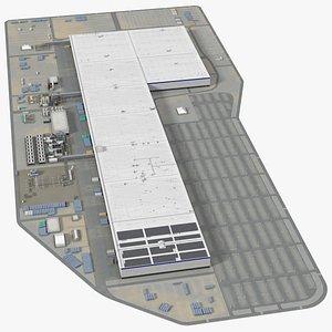 3D Huge Manufacturing Plant model
