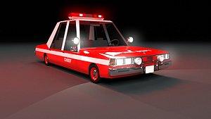 Cartoon Car Fire Department 3D model