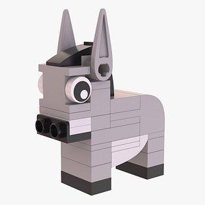 Lego Donkey Animal 3D
