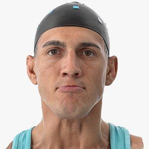 mike human head lip 3D