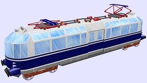 3D et 91 glass train model