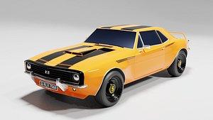 3D muscle car