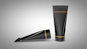 3D model skincare lotion tube