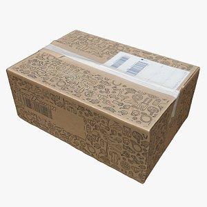 3D Cardboard Box 10 model