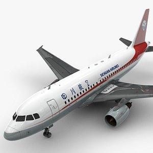 3D AirbusA319-100SICHUAN AirlinesL1388