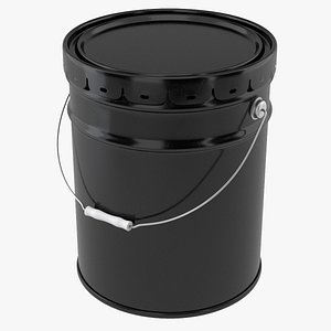 3D container bucket pail model