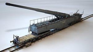 Krupp K.5 28 cm Leopold 3D