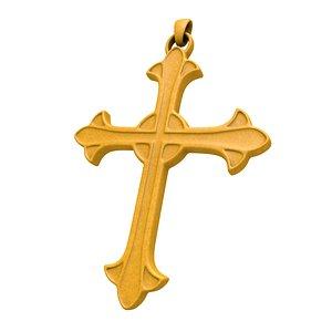 Cross pendant 3D