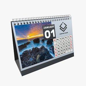calendar mock 3D model