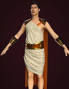 3D model clothes ancient roman
