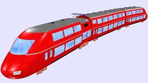 ice ktx passenger train 3D model