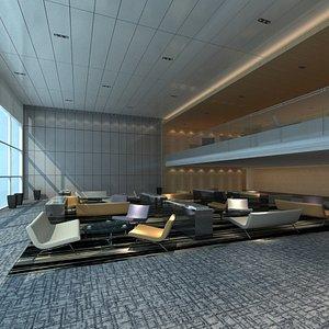 lounge hall furniture 3D model