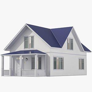 3D Family House 03 model