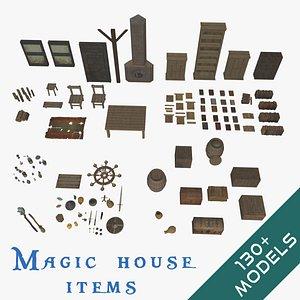 mega pack items magical 3D model