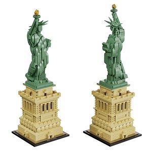 lego architecture 21042 3D model