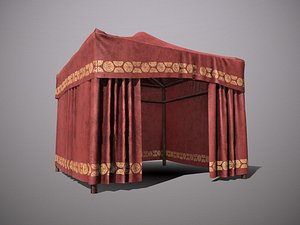 Oriental Chinese tent pbr Low-poly model