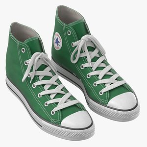 Basketball Leather Shoes Green model