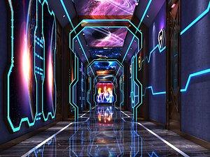 3D model KTV channel channel science fiction technology sense transmission through
