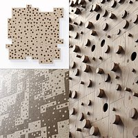 Panel wood board hole n2