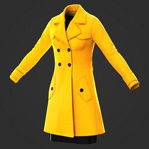3D model Women coat Marvelous Designer