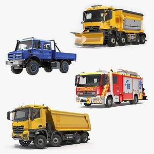 3D Mercedes Benz Trucks Collection