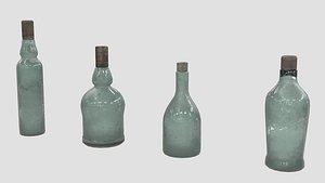 Old Bottles 3D model