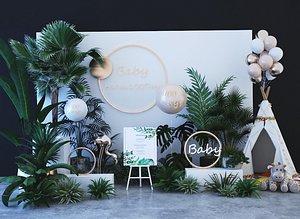 3D model wedding balloon gardening